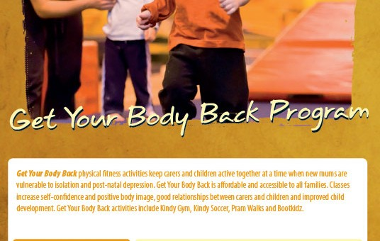 design graphics print brochure get your body back deception -bay