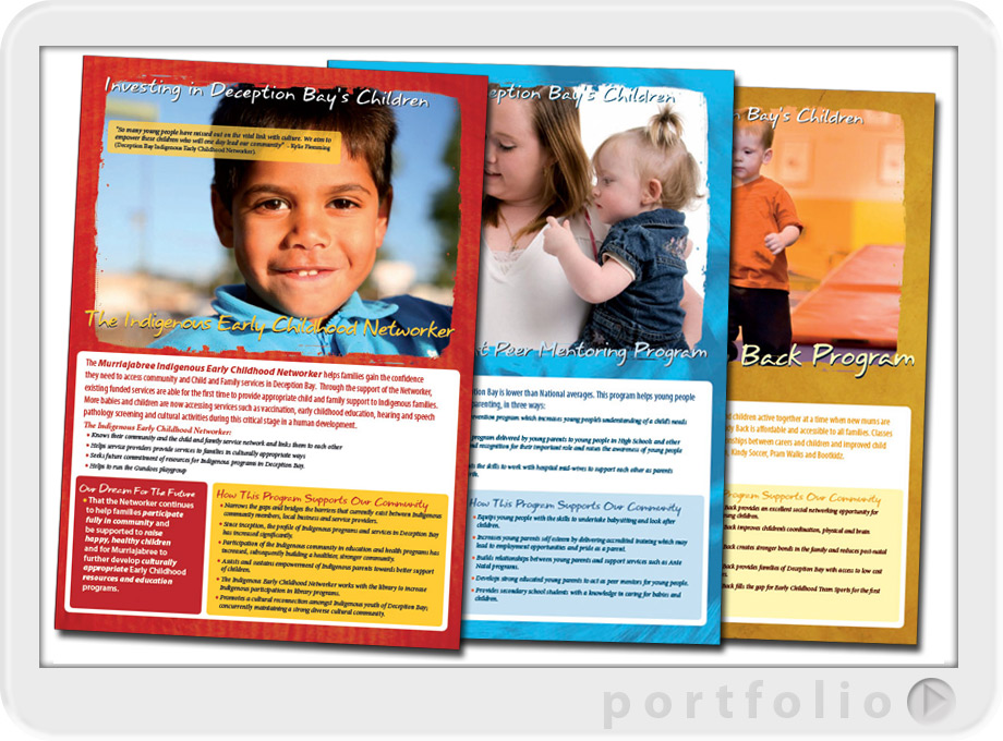 graphic design for health community wellbeing brochures