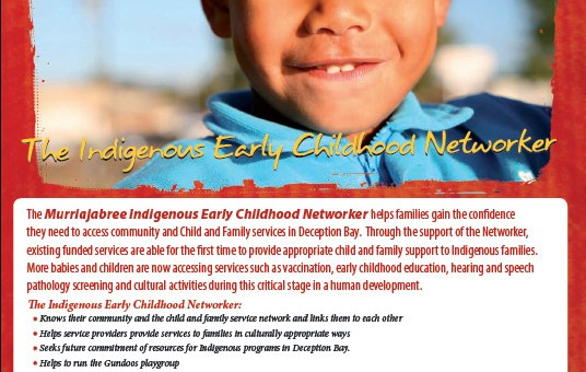 deception bay design graphics print brochure for indigenous networker