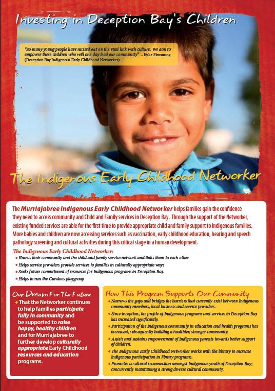 deception bay design graphics print brochure for indigenous networker