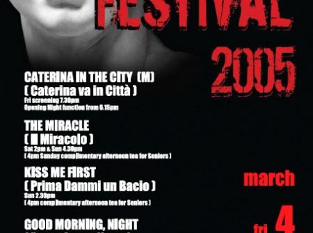 nambour print graphics poster designer italian film festival 2005 sunshine coast