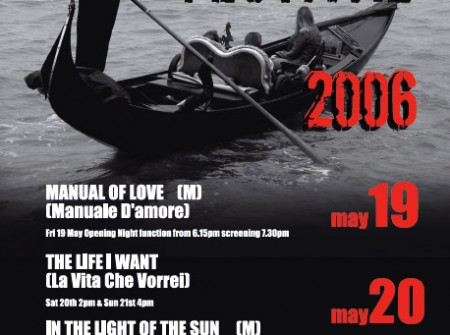 nambour print graphics poster designer for italian film festival