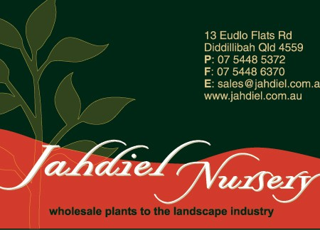 business card design for jahdiel nursery sunshine coast