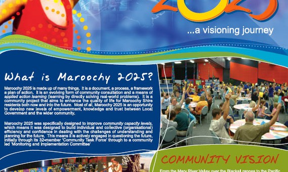 corporate imaging graphics vision for maroochy 2025 poster sunshine coast