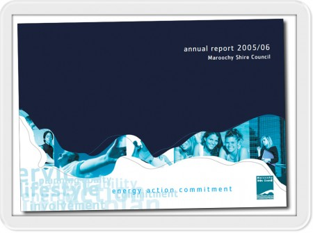 book graphic design cover project for maroochydore council annual report