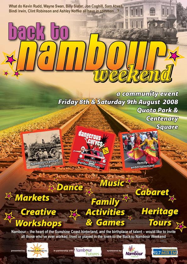 nambour festival poster graphic design print publish sunshine coast