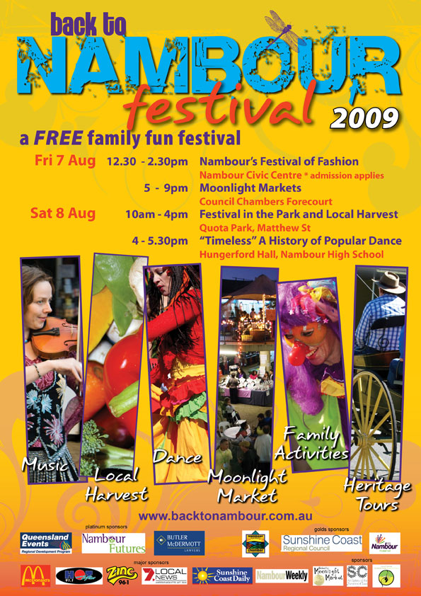 poster print publish sunshine coast for nambour festival graphic design