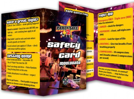 double booklet sunshine coast printing party safe contact business card