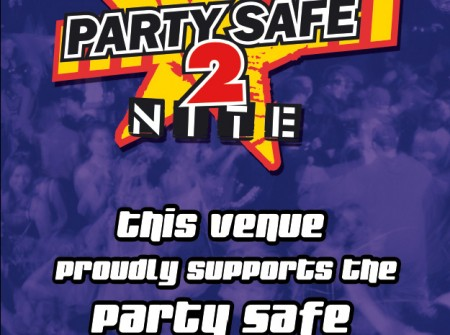 sunshine coast dance club venue poster design for party safe tonight poster