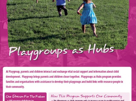 deception bay design graphics print brochure for playgroups as hubs