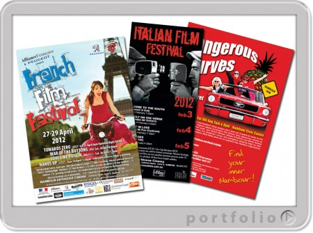 design and printing queensland australia of posters for arts festivals
