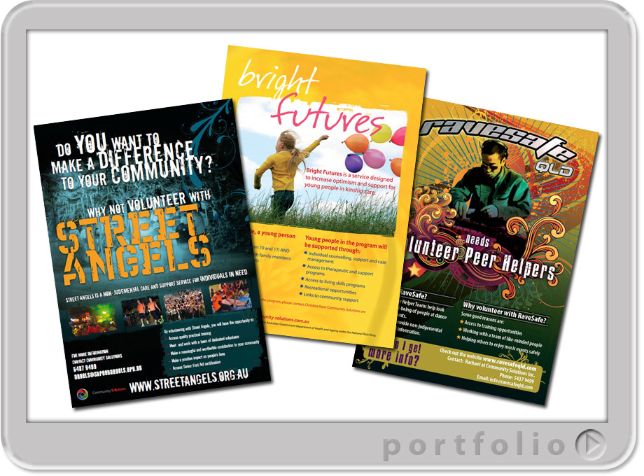 design and printing queensland australia of posters for community programs