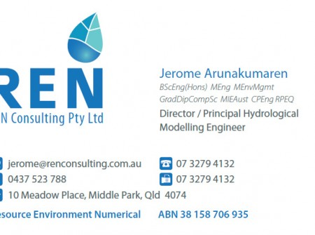 print design brisbane ren hydrology business card
