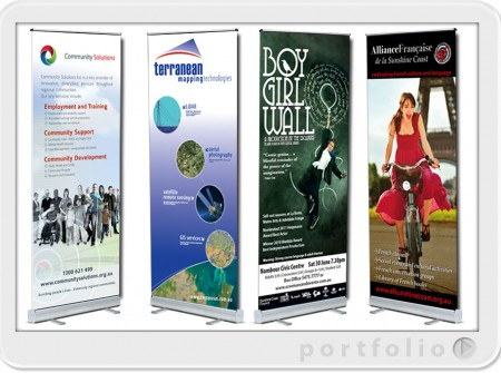 sunshine coast roll up banners design and print