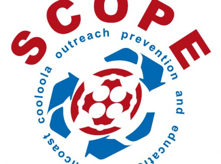 design graphics development publish print for scope suncoast cooloola logo
