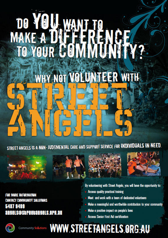 coast design graphics print project for street angels poster