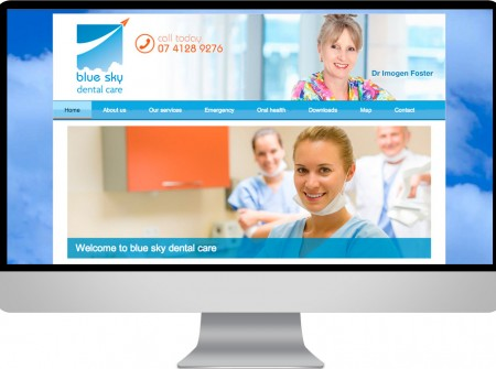A wordpress development and design for a new Hervey Bay Dental practice called Blue sky Dental