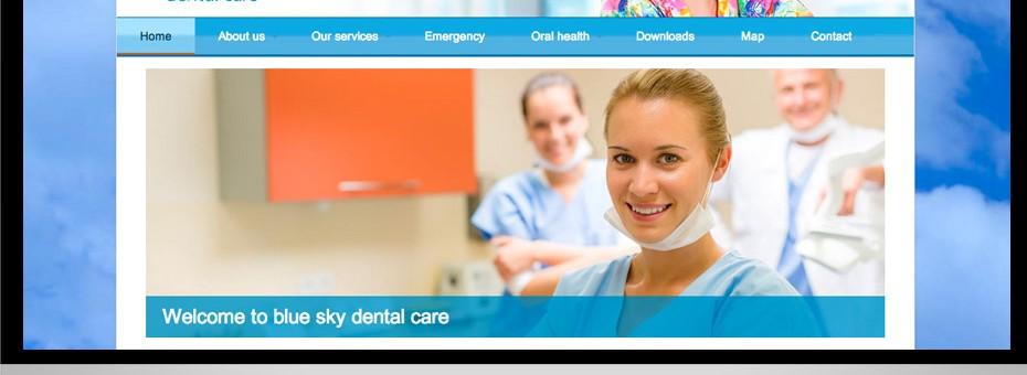 A wordpress development and design for a new Hervey Bay Dental practice called Blue sky Dental