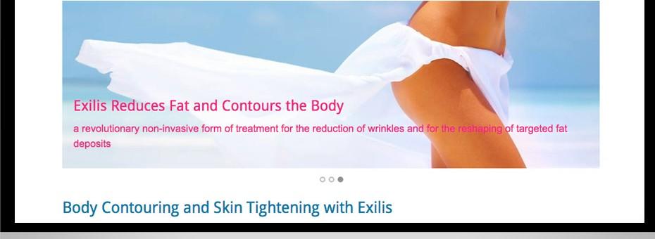 Sunshine Coast Exilis wrinkle fat reduction and beaty treatment website