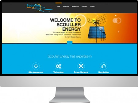 Design and development of a responsive website for Scouller Energy provideing solutions for outback australian alternative energy generation.