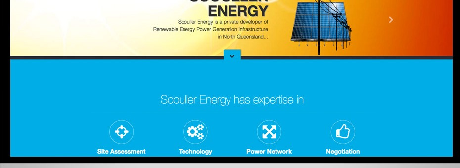 Design and development of a responsive website for Scouller Energy provideing solutions for outback australian alternative energy generation.