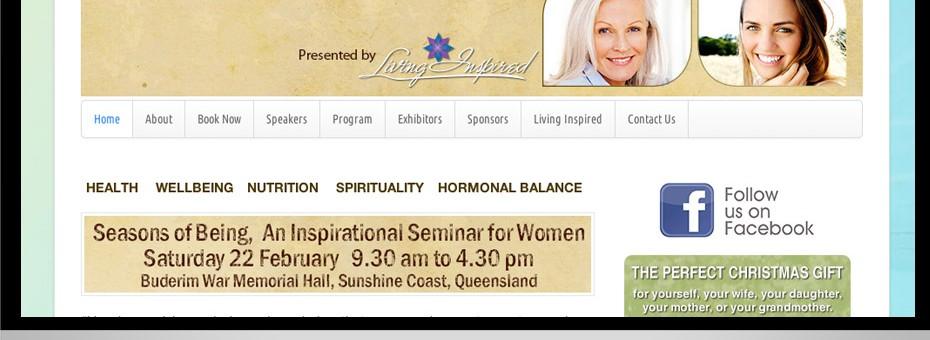 Wordpress website for Seasons of Being Buderim womens seminar