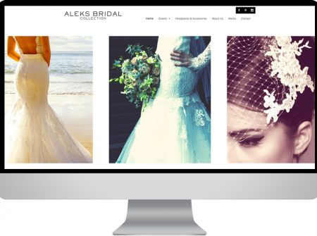 aleks bridal fashion worpress website sunshine coast australia