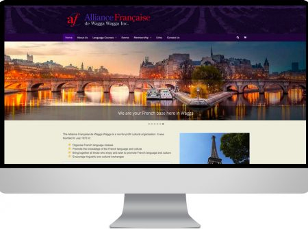 alliance francaise ecommerce website wagga wagga wordpress website