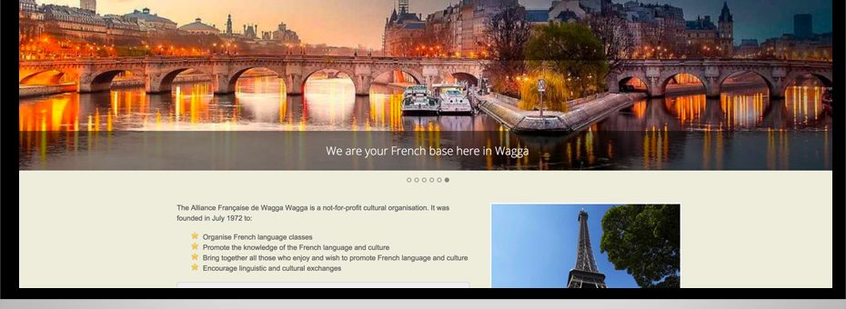 alliance francaise ecommerce website wagga wagga wordpress website