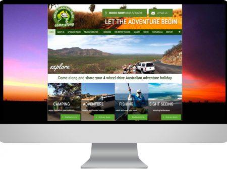 aussie tagalong tours to cape york adventure ecommerce responsive website