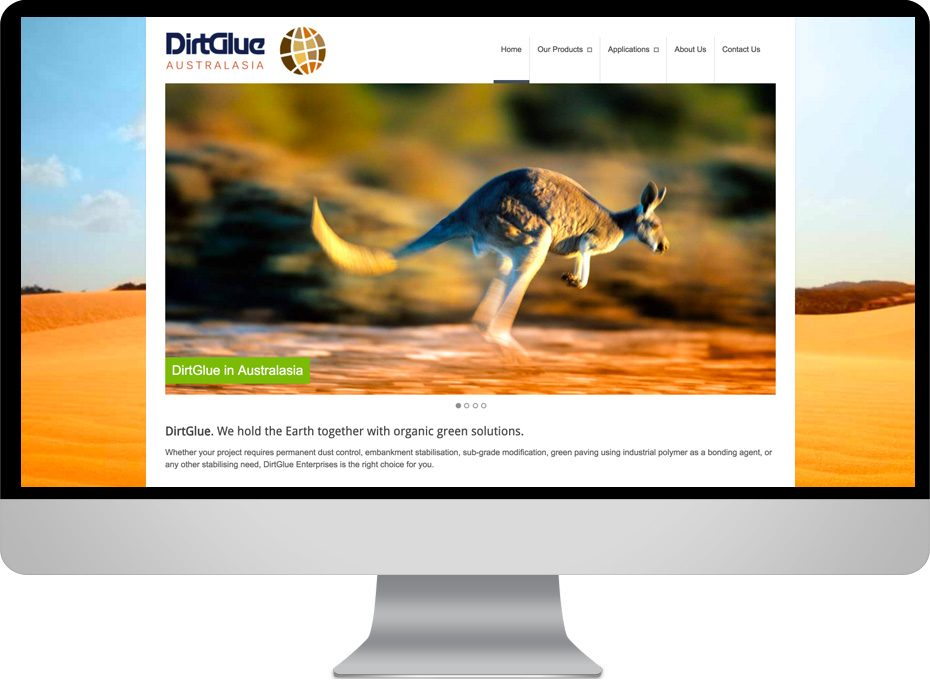 dirtglue australasia wordpress website responsive