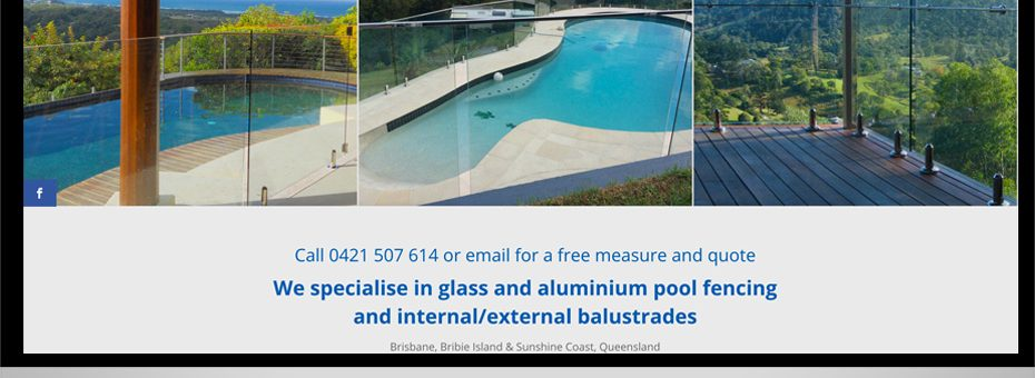coastal glass pool fencing sunshine coast bribie caboolture brisbane design supply and install website