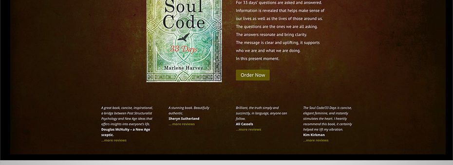 the soul dcode 33 days marlene harvey author ecommerce wordpress website selling books and digital downloads for sunshine coast author