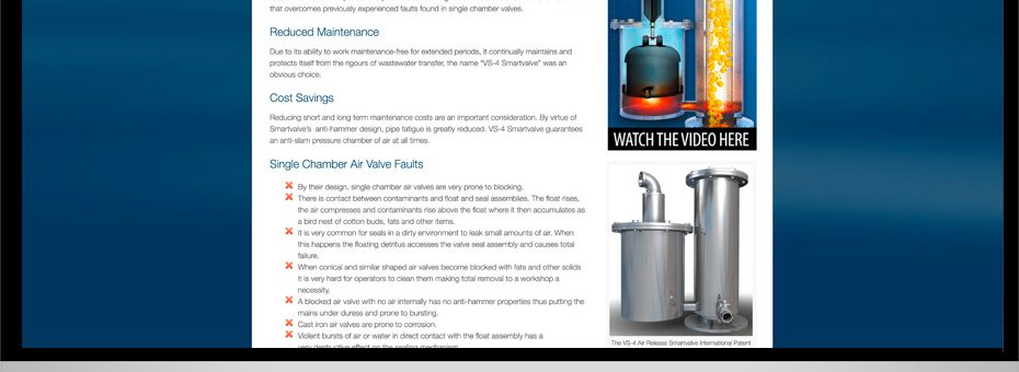 vs 4 smart air release valve double chamber wastewater solutions wordpress website for logan based business